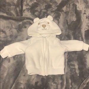 Koala Baby Newborn Zip-up Knit Sweater